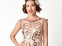 Rose Gold Latin Dress
